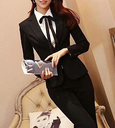 レディ-ス ビジネス パンツスーツセットアップBタイプ・ブラック・XL