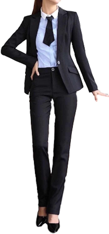 レディ-ス フォーマル パンツスーツセットアップAタイプ・ブラック・L
