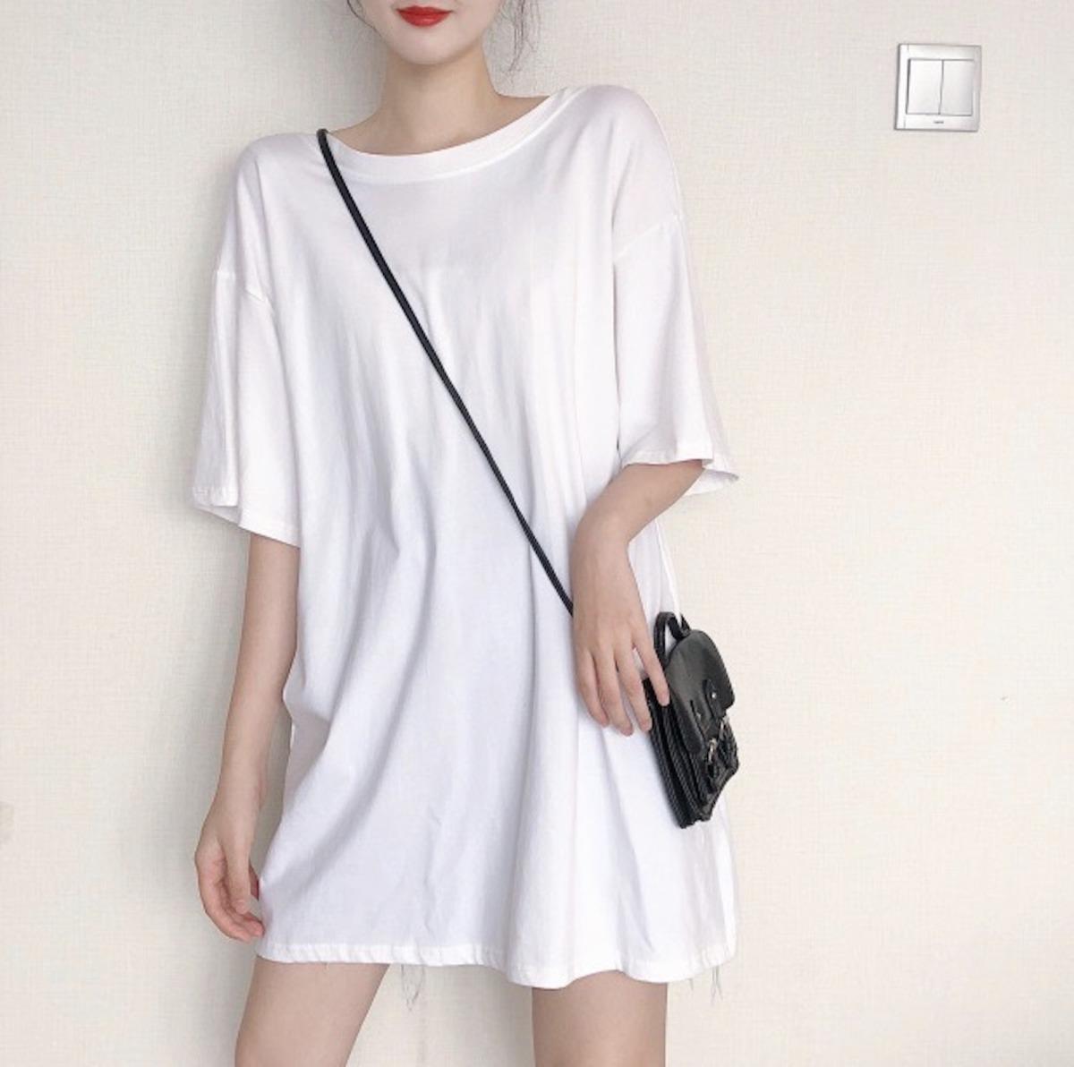 レディースバックデザイントップスTシャツ・ホワイト・ワンサイズ